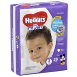 Huggies Little Movers Diapers, Jumbo Pack Size 3, 16-28 lbs, 28 ea