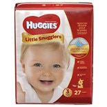 Huggies Little Snugglers Diapers, Jumbo Pack Size 3, 16-28 lbs, 27 ea