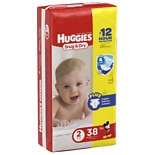 Huggies Snug & Dry Diapers, Jumbo Pack Size 2, 12-18 lbs, 38 ea