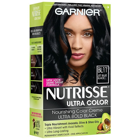 garnier nutrisse permanent haircolor blue black bl11