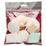 Precision Beauty Assorted Cosmetic Sponges 24 Count in