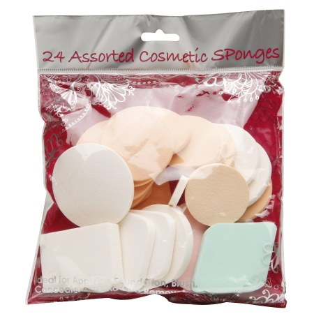 Assorted Cosmetic Sponges 24 Count by Precision Beauty