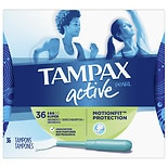 Tampax Pearl Active SlenderFit, Plastic Applicator Tampons Unscented,Super