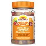 Sundown Naturals Vitamin D3 2000IU Gummies