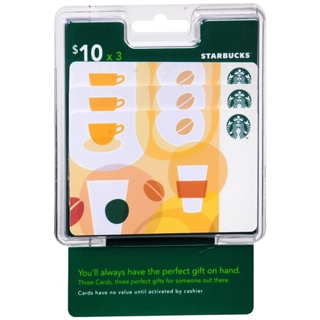 Starbucks 3 Pack - $10 Gift Cards