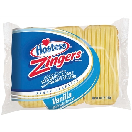 Hostess Zingers Iced Cakes with Creamy Filling 3 Pack Vanilla