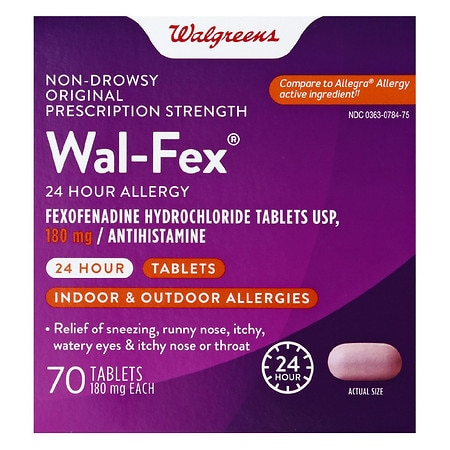 Walgreens Wal-Fex Non-Drowsy 24 Hour Allergy Relief Tablets