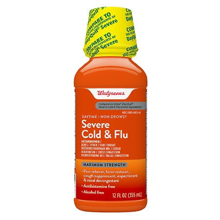 Walgreens Severe Cold & Flu Daytime Liquid