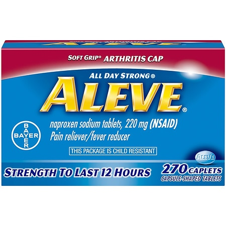 Aleve All Day Strong Pain Relief, Fever Reducer, Caplets