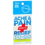 UrgentRx Ache & Pain Relief to Go Powder Pack Lemon-Lime