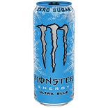 Monster Energy Drink 16 oz Can Ultra Blue