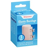 Walgreens Elastic Bandage With Clips 3 inch