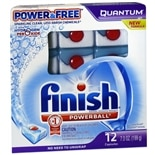 Finish Quantum Dishwasher Detergent, Power & Free