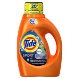 Tide Plus Febreze Freshness Sport High Efficiency Liquid Laundry Detergent 24 Loads Active Fresh