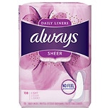Always Dailies Sheer Liners