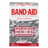 Band-Aid Adhesive Bandages Assorted Sizes Our Veteran Heroes