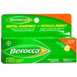 Berocca Mental Sharpness + Physical Energy Effervescent Tablets Orange