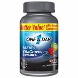 One A Day VitaCraves Men's Multivitamin Gummies Fruit