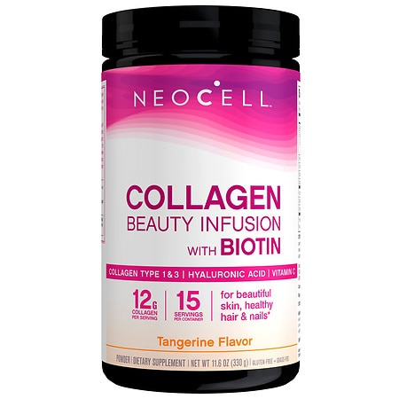 NeoCell Beauty Infusion Refreshing Collagen Drink Mix Tangerine Twist