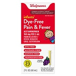 Walgreens Infant Pain/Fever Reducer, Dye Free Grape