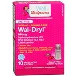 Walgreens Children's Wal-Dryl Allergy Medicine, Single Dose Sugar Free Cherry