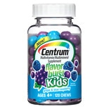 Centrum Kids Flavor Burst Multivitamin Chews Grape & Blue Raspberry