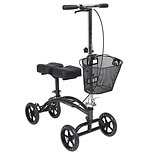 Drive Medical Dual Pad Steerable Knee Walker with Basket Silver