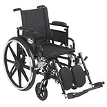 Drive Medical Viper Plus GT Wheelchair w Flip Back Removable Adjustable Desk Arm and Leg Rest 16 Inch Seat Black