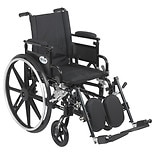 Plus GT Wheelchair Flip Back Removable Adj. Desk Arm Elevating Leg Rest 18 Inch SeatBlack