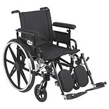 Drive Medical Viper Plus GT Wheelchair w Flip Back Removable Adjustable Full Arm and Leg Rest 20 Inch Seat Black