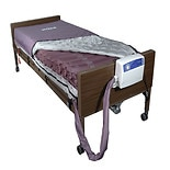 Drive Medical Med Aire Low Air Loss Mattress Replacement System, Alternating Pressure 80x36x8 Dark Purple