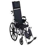 Drive Medical Viper Plus GT Reclining Wheelchair, Desk Arms 16 Inch Seat Black