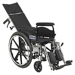 Drive Medical Viper Plus GT Reclining Wheelchair, Full Arms 18 Inch Seat Black