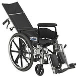 Drive Medical Viper Plus GT Reclining Wheelchair, Full Arms 20 Inch Seat Black