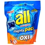 All 4X Concentrated Laundry Detergent Mighty Pacs with Stainlifters Oxi