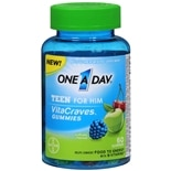 One A Day VitaCraves Teen for Him Multivitamin Gummies Assorted