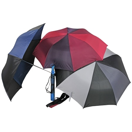 West Loop Folding 2 Person-Combo 56 inch Umbrella Black