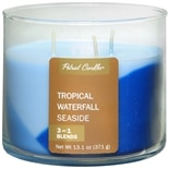 Patriot Candles Layer Candle Tropical + Waterfall + Seaside Blue