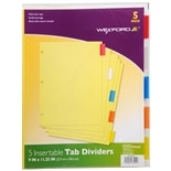 Wexford Index Divider Tabs 9 inch x 11.25 inch Yellow
