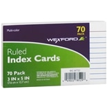 Wexford Ruled Index Cards 3 x 5 Inch Multi