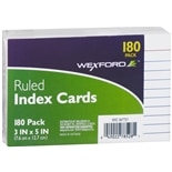 Wexford Ruled Index Cards 3 x 5 Inch White