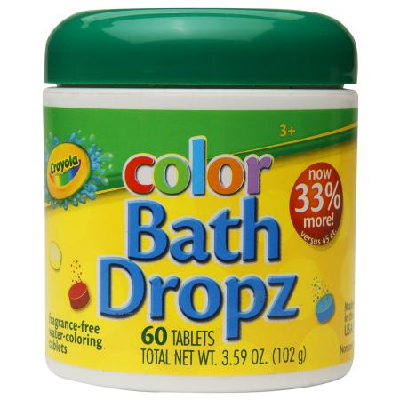 Color Bath Dropz Fragrance Free by Crayola