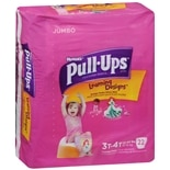 Huggies Pull-Ups Girls' Jumbo Diapers 3T-4T
