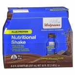 Walgreens Complete Nutritional Shake Plus Protein Milk Chocolate