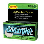 GoGargle! Effervescent Salt Gargle Tablets Minty Fresh