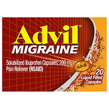 Migraine Pain Reliever, Liquid Filled Capsules