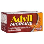 Migraine Pain Reliever Liquid Filled Capsules