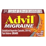 Advil Migraine Solubilized Ibuprofen, 200 mg, Liquid Filled Capsules