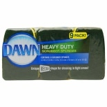 Dawn Heavy Duty Scrubber Sponges Green/Yellow