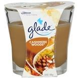 Glade Candle Cashmere Woods Brown